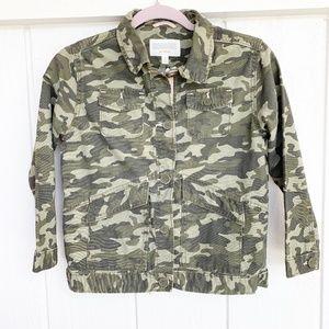 GYMBOREE Army Camo Hello Sunshine Jacket Kid M 7-8